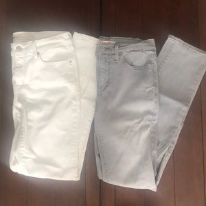 Levi's Mid Rise Skinny White & Gray Jean bundle